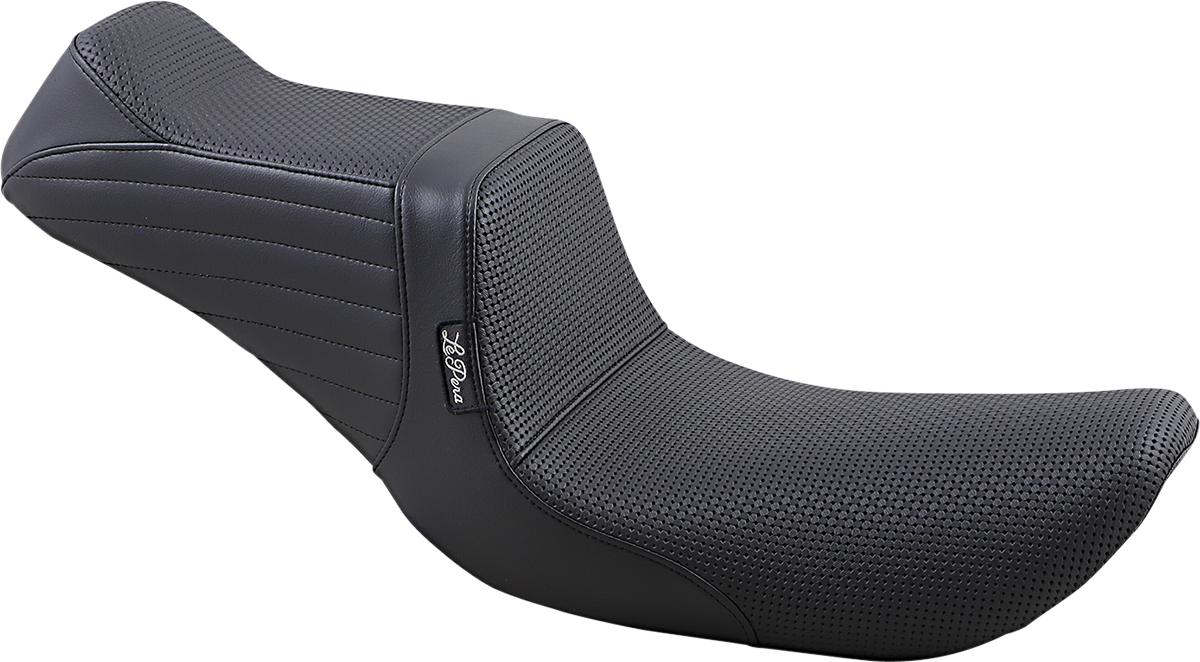 Le Pera Tailwhip Basketweave 2 Up Motorcycle Seat 96-03 Dyna Softail Touring XL