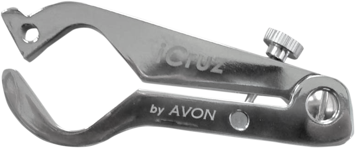 "Avon iCruz Chrome Motorcycle Handlebar Grips 1"" Twist Throttle Lock for Harley"
