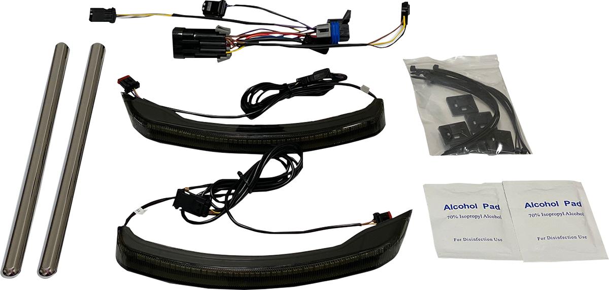 Custom Dynamics Low Profile LED Saddlebag Lights 2015-2021 Indian Chieftain