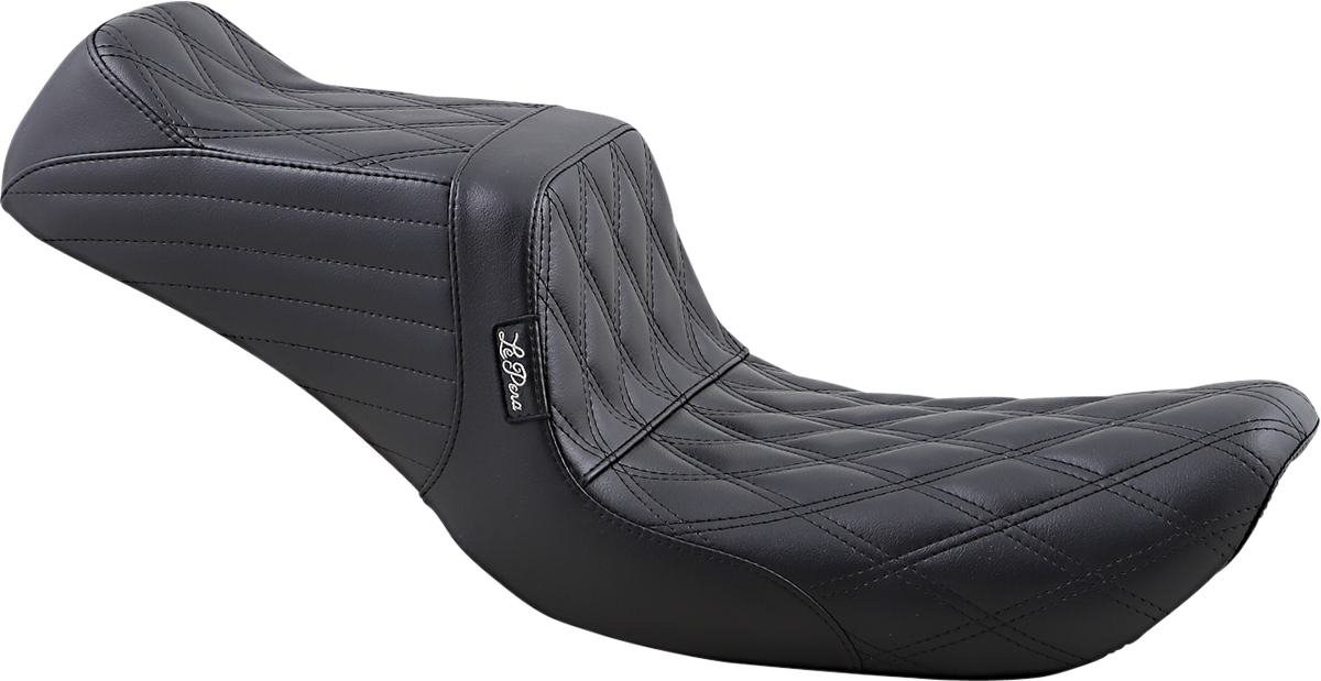 Le Pera Tailwhip Diamond 2 Up Motorcycle Seat 96-03 Dyna Softail Touring XL FXDX