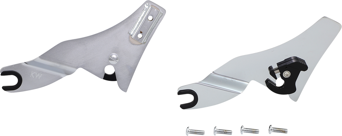 Khrome Werks Chrome Quick Release Sissy Bar Side Plates 2009-21 Harley Touring