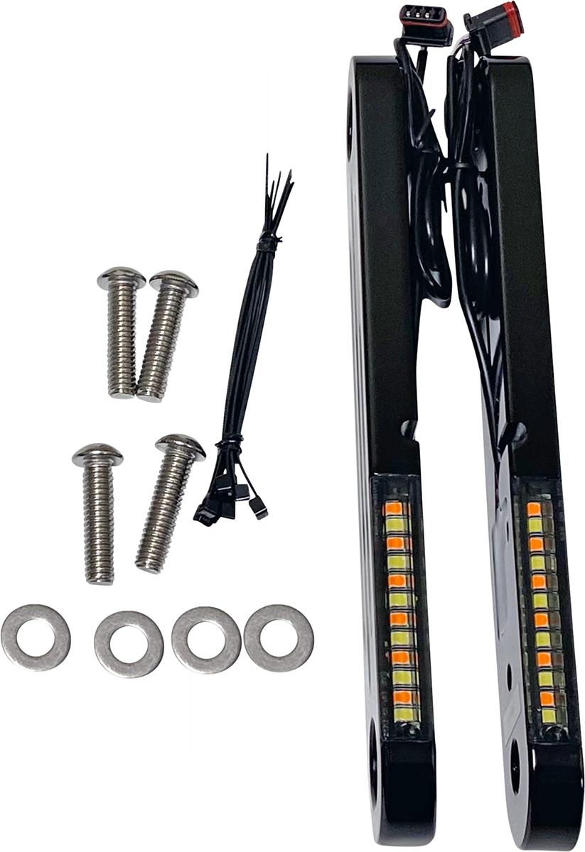 Custom Dynamics ProBeam Front Turn Signal Light Strips 1996-2021 Harley Touring