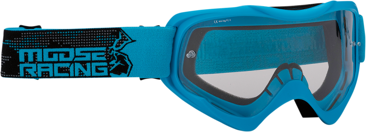 Moose Qualifier Agroid Blue Unisex Motorcycle Riding Dirt Bike Racing Goggles MX