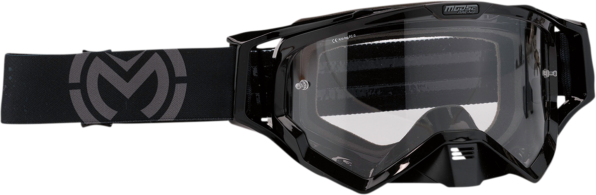 Moose XCR Galaxy Black Motorcycle Riding Dirt Bike Racing Goggles MX
