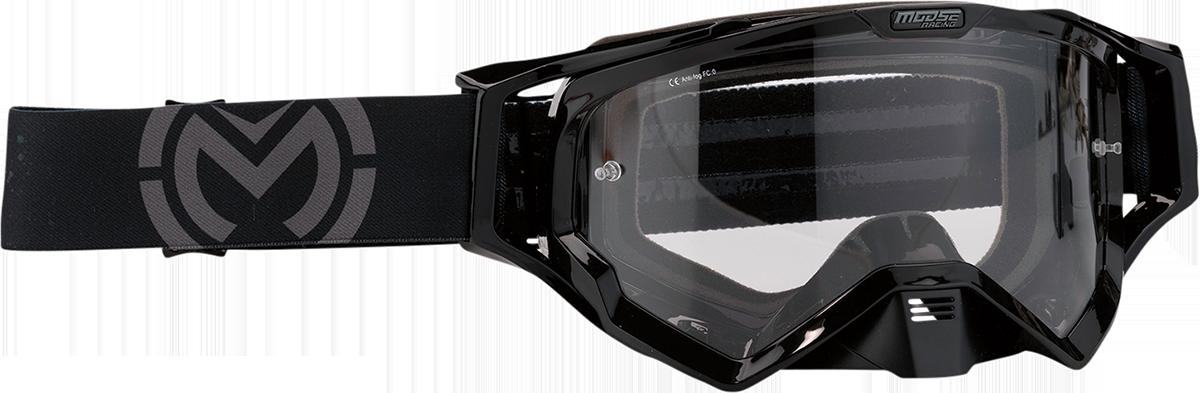 Moose XCR Galaxy Black Motorcycle Riding Dirt Bike Racing Goggles MX