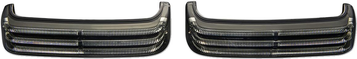 Custom Dynamics LED Sequential Black Saddlebag Lights 14-21 Harley Touring FLHX