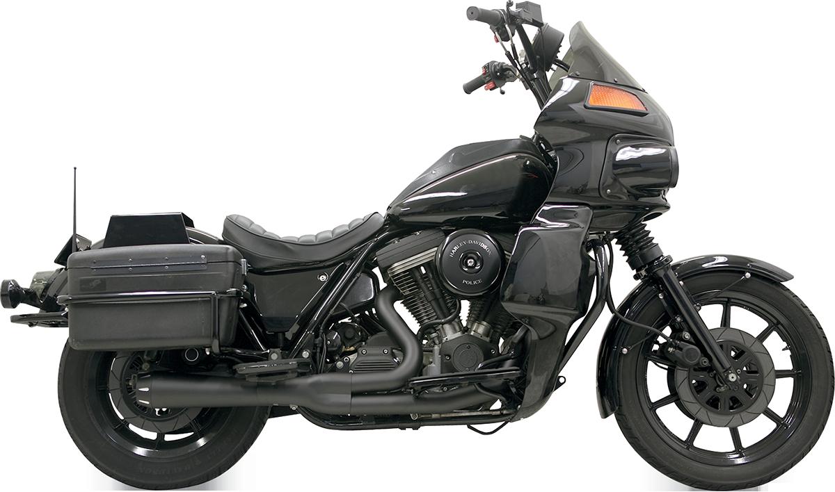 Bassani Road Rage II Black 2-1 Motorcycle Exhaust for 1984-2000 Harley FXR FXRT